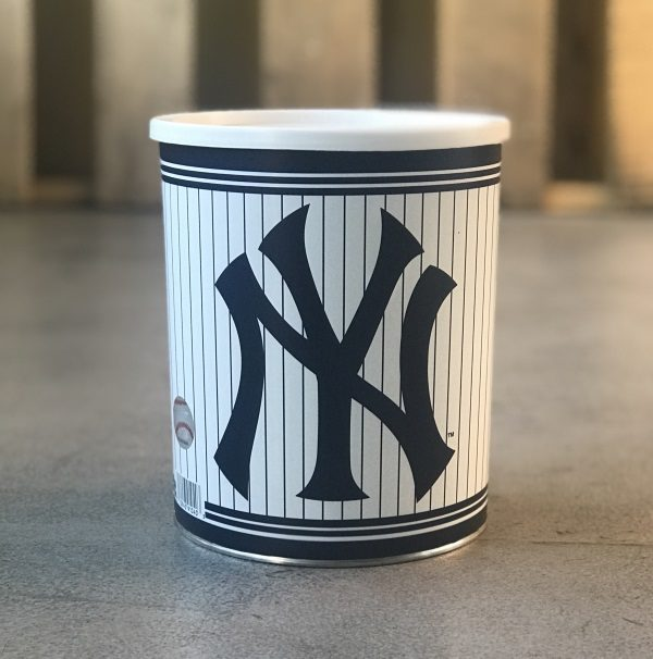 Yankees Baseball Tin with Sports Popcorn Tins for Gifts
