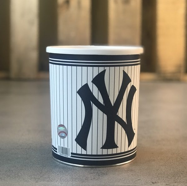 New York Yankees Licensed MLB Tin with Gourmet Popcorn Varieties