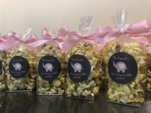 personalized popcorn baby shower party favors