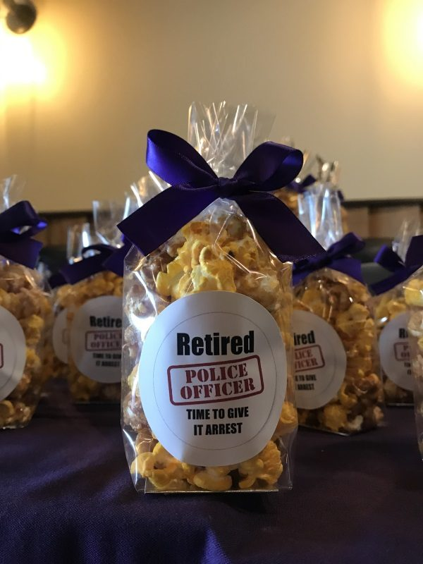 retirement party favors custom popcorn gifts